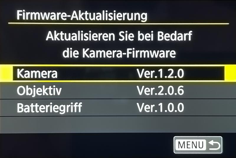 Neue Firmware 1.2.0 für Canon EOS R5 undR6